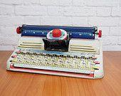 Vintage 1950s Marx Tin Litho Junior Typewriter Toy Collectible