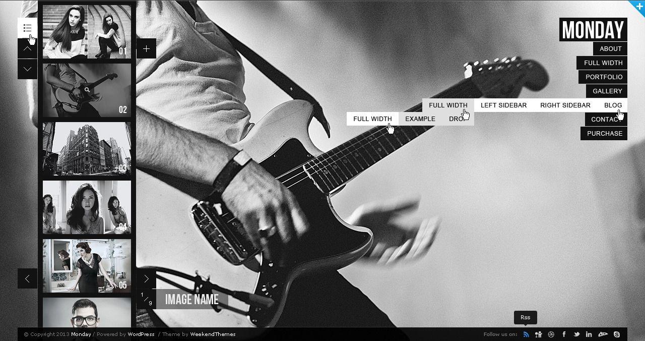 MONDAY — Responsive PSD Template #design #webdesign #template #web ...