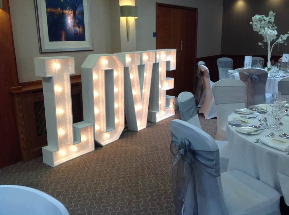 chair cover hire tamworth tall dining room chairs giant love letter nuneaton coventry hinckley sutton coldfield lea marston hotel wedding venue
