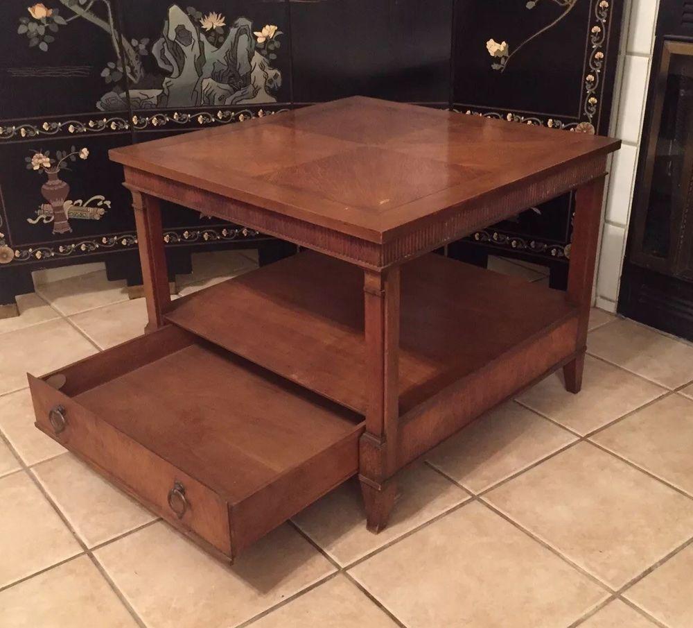 mid century modern baker furniture usa wood side end table home deco rh pinterest com