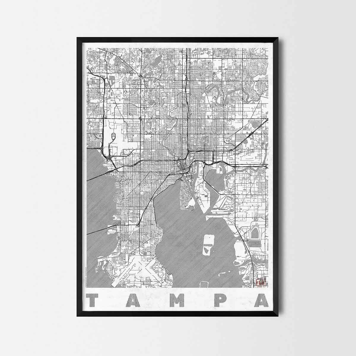 Tampa art prints city art posters and map prints gifts gumiabroncs Image collections