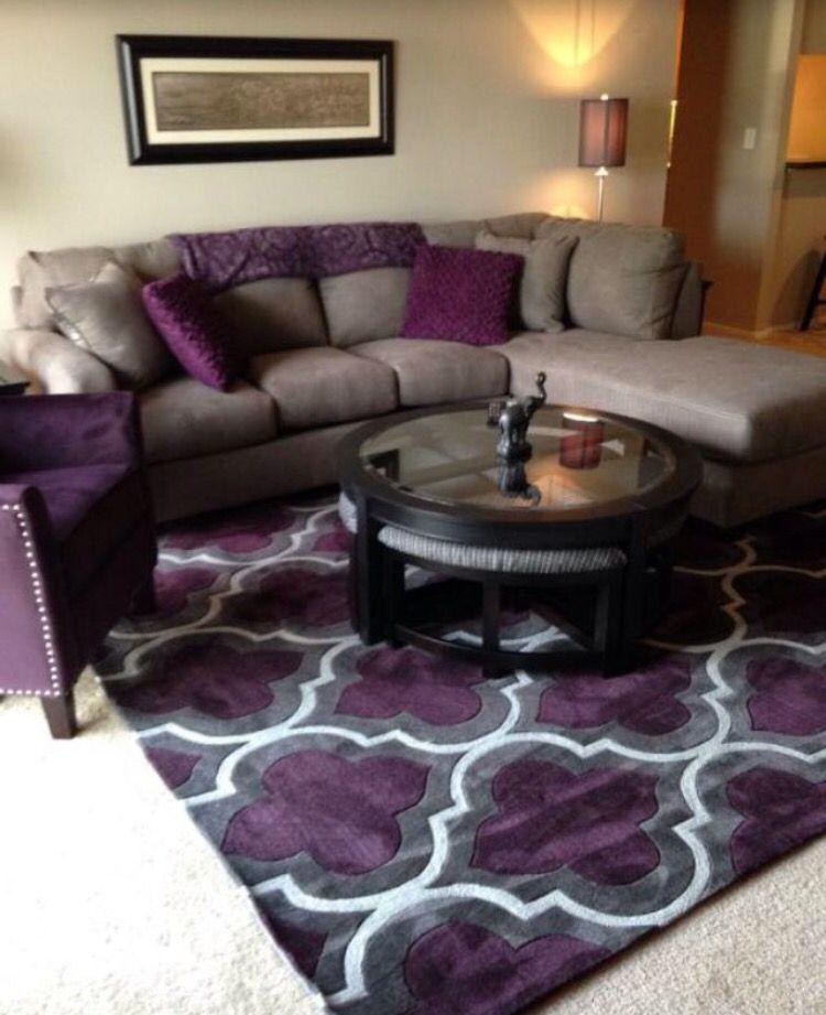 morado living room decor home decor living room grey purple walls rh pinterest com