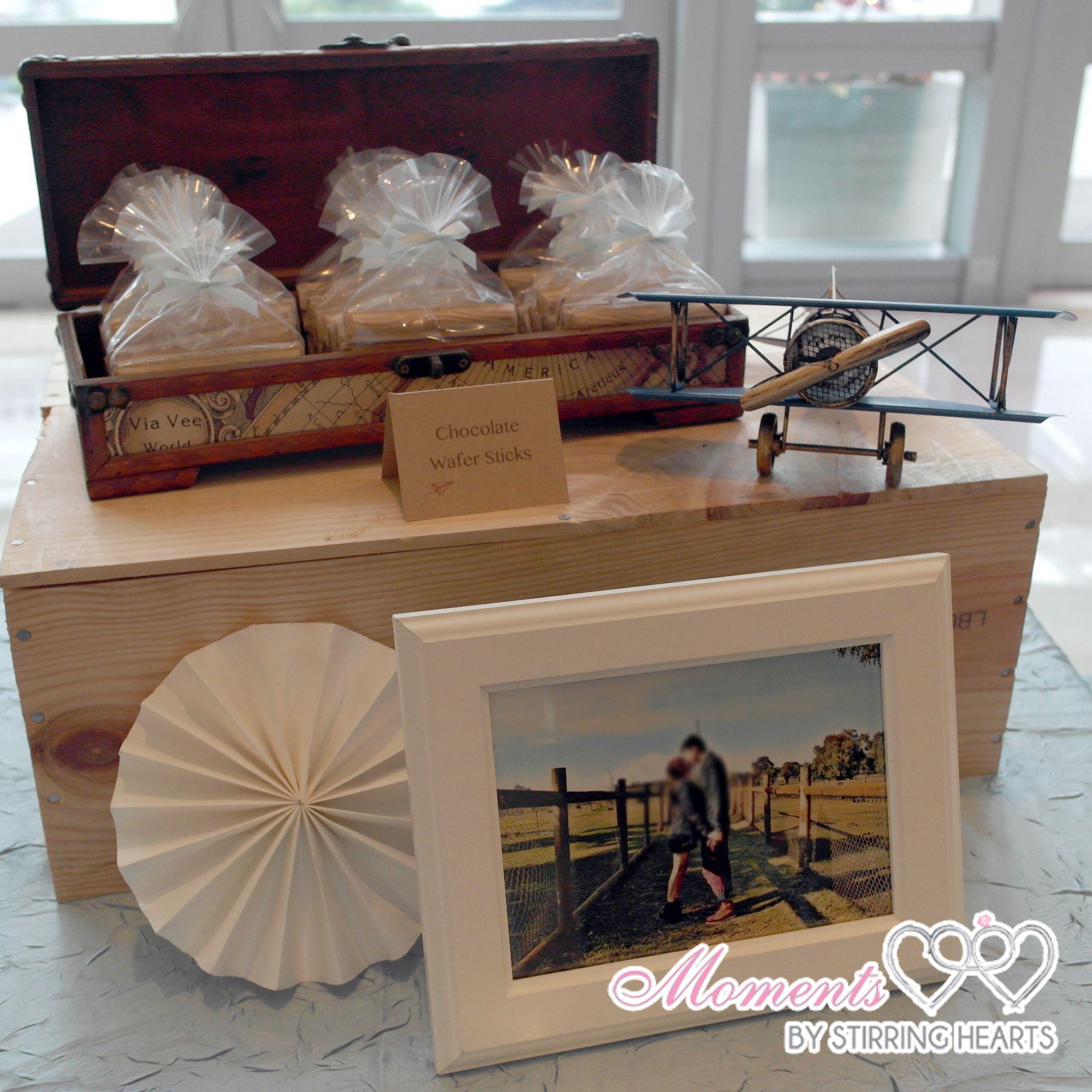 stirringhearts Vintage Travel Wedding Dessert Table