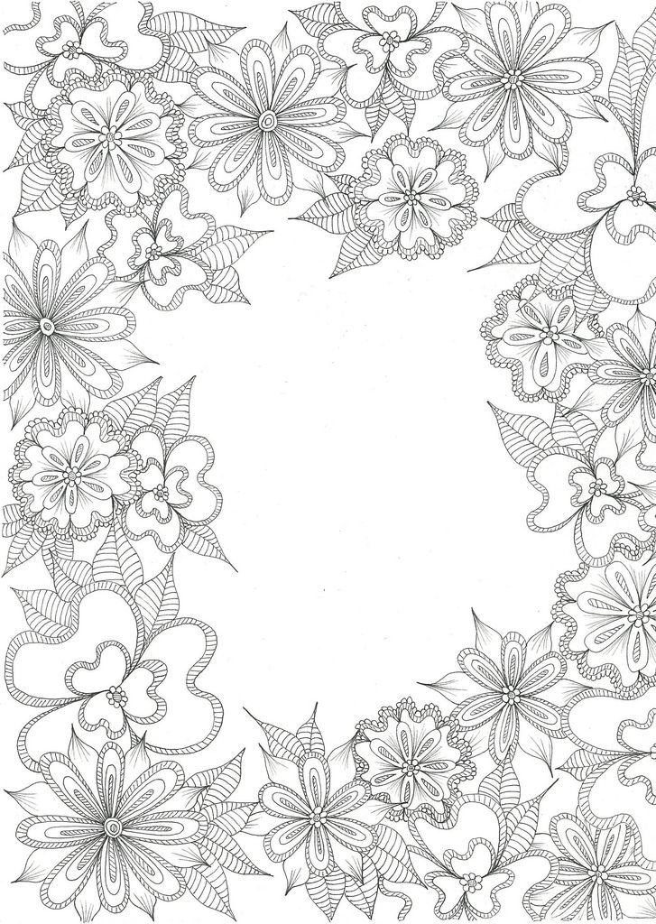 A Blank Slate Flower Coloring Pages Coloring Pages For Grown Ups Coloring Pages
