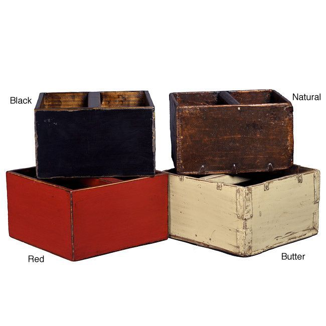 Infuse your home decor with Asian style with this square rice bucket