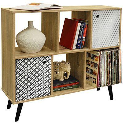 retro open sideboard cube shelving lp vinyl storage 2 doors rh pinterest co uk
