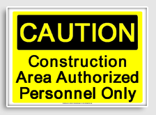 Printable Osha Signs For Construction Party