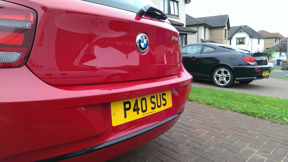 BMW 116i following our Exterior Protection Detail. Bmw