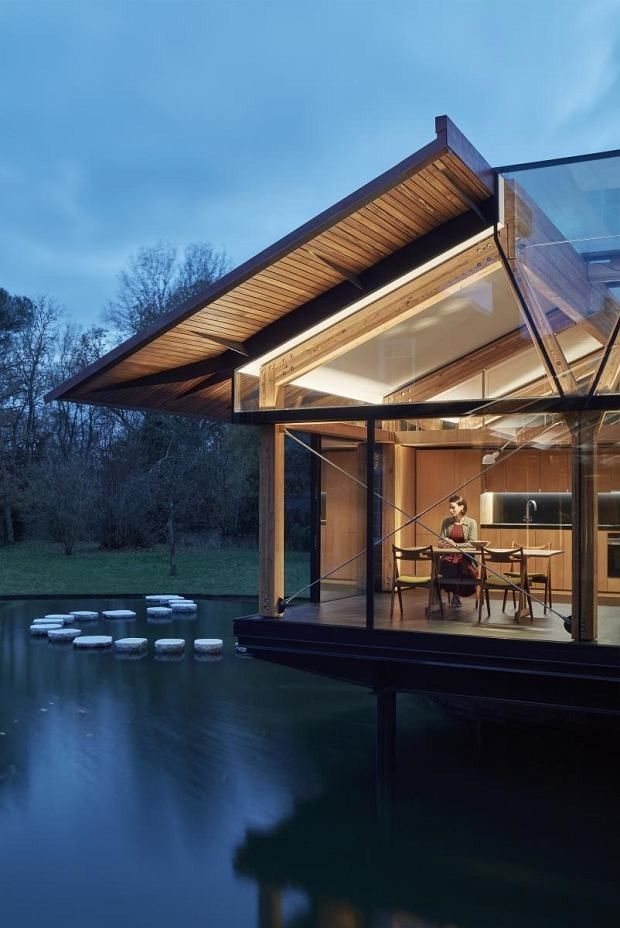 Wooden House · Music Room Over Water