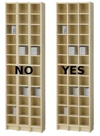 Perfect Improved IKEA Benno CD Shelf