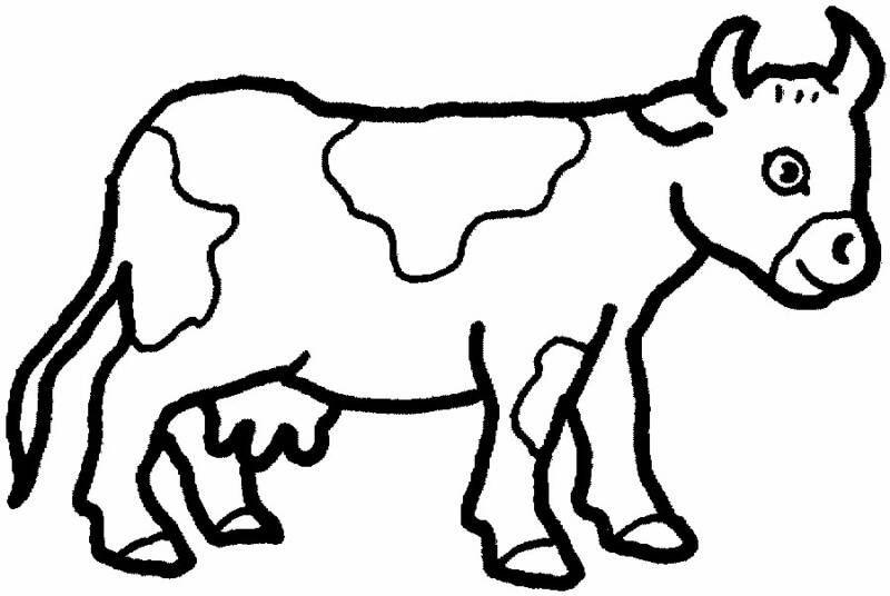 cute farm animals cow coloring pages for kids boys and girls - Printable Coloring Pages For Toddlers