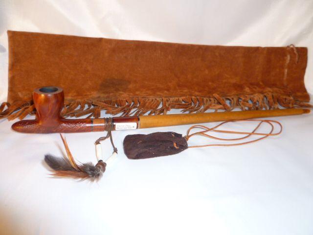Vauen Sioux Indian peace pipe (kalumet)