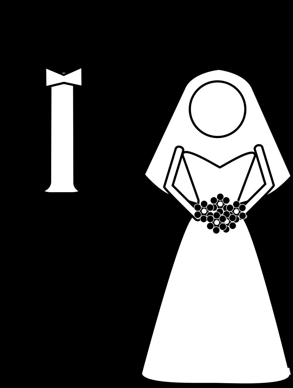 Wedding, Married, Bride, Groom, Vector Graphic wedding,