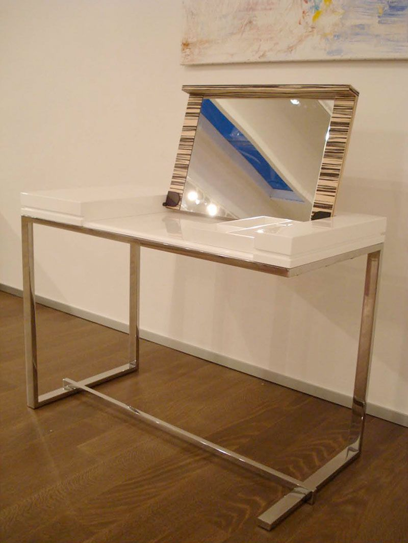 Modern White Dressing Table U2013 Melina By Sabinoaprile | DigsDigs