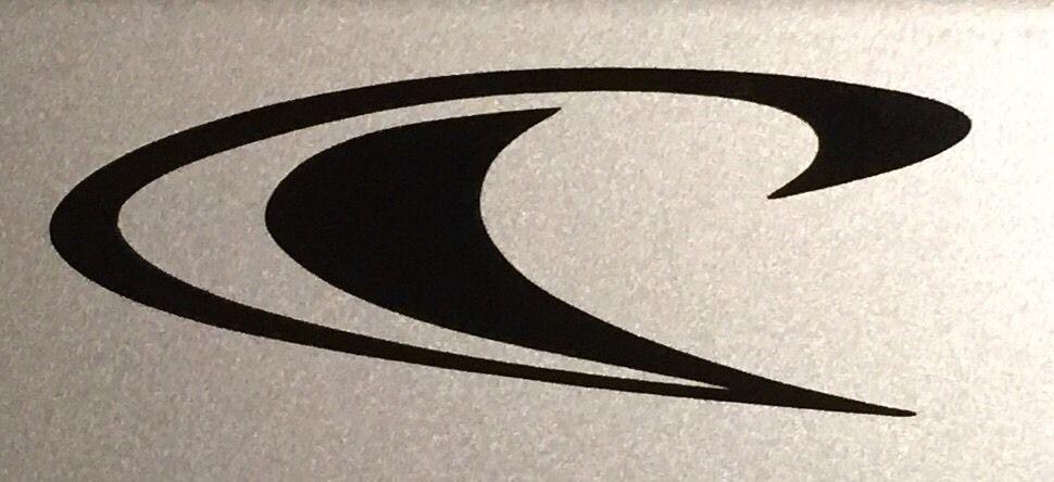 Oneill wetsuit logo vinyl window decal car bumper sticker in black 11