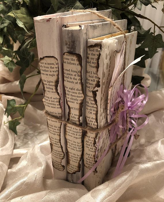 shabby chic books book bundle distressed stack of books farmhouse rh pinterest com
