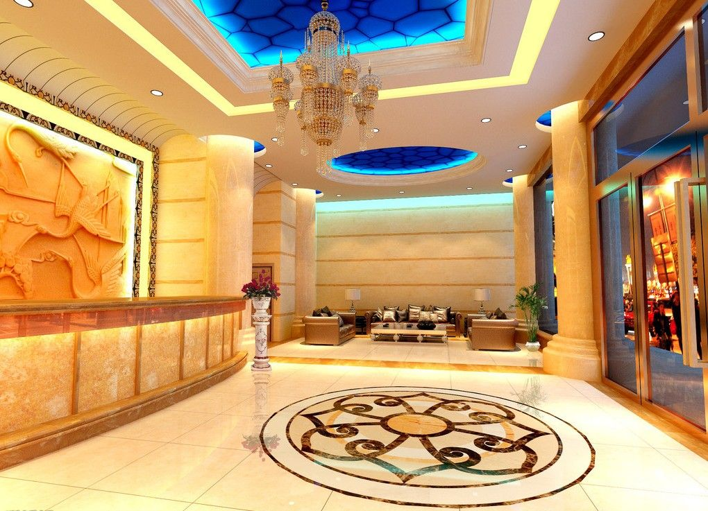 Luxury lighting design of hotel lobby | CHIEF\'S OFFICE | Pinterest ...