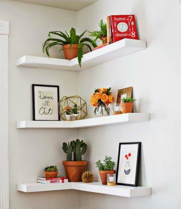 30 corner shelf ideas home decoration small apartment decorating rh pinterest com