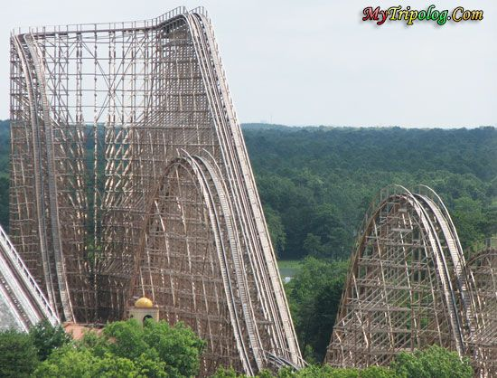Six Flags Great Adventure Jackson Nj This Looks So Fun Best Roller Coasters Wooden Roller Coaster Six Flags Great Adventure