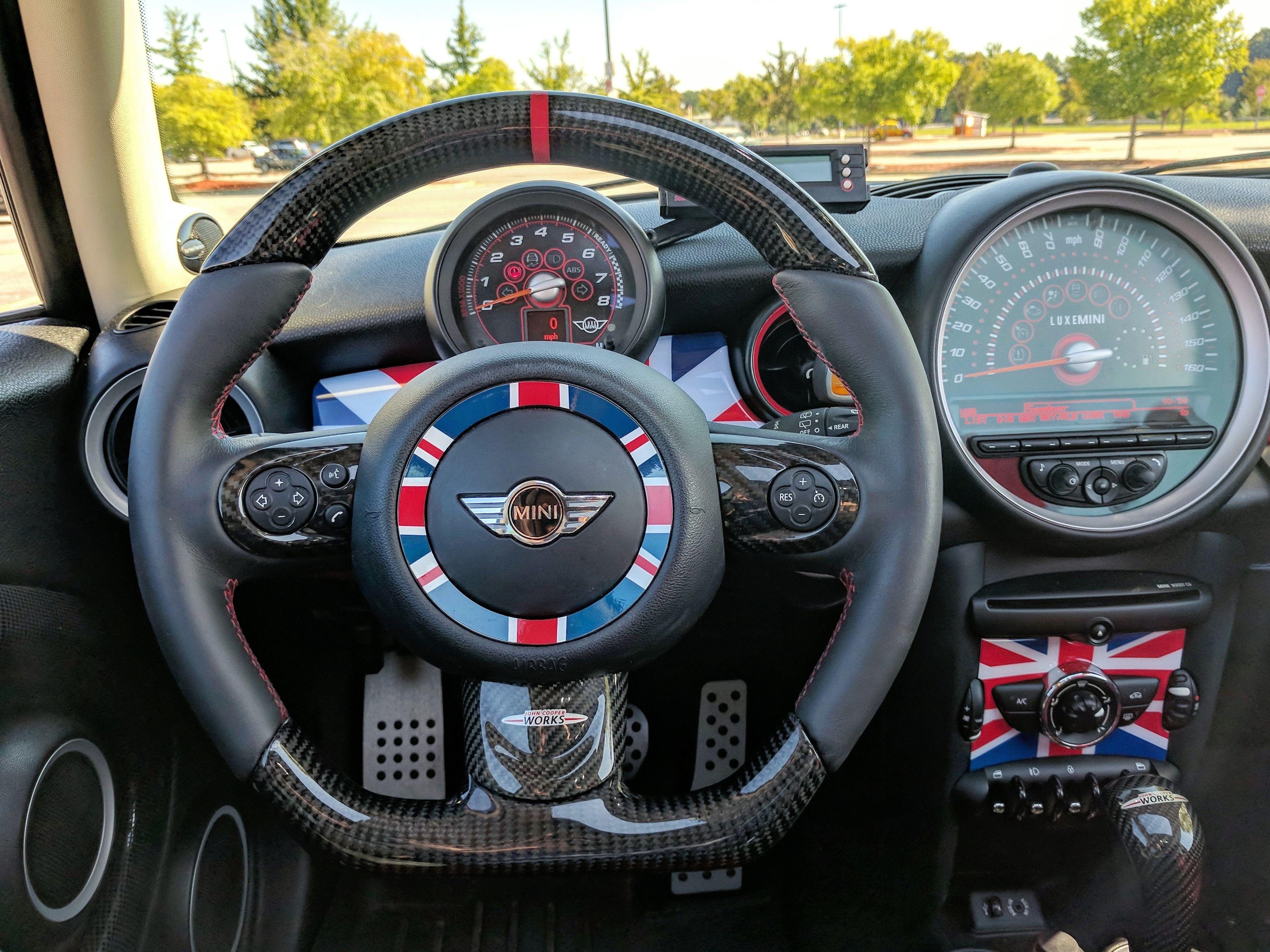Mini Cooper Carbon Custom Steering Wheel Find Us On Facebook Click Visit Minicooper Carbonfibre Customsteeringwheel
