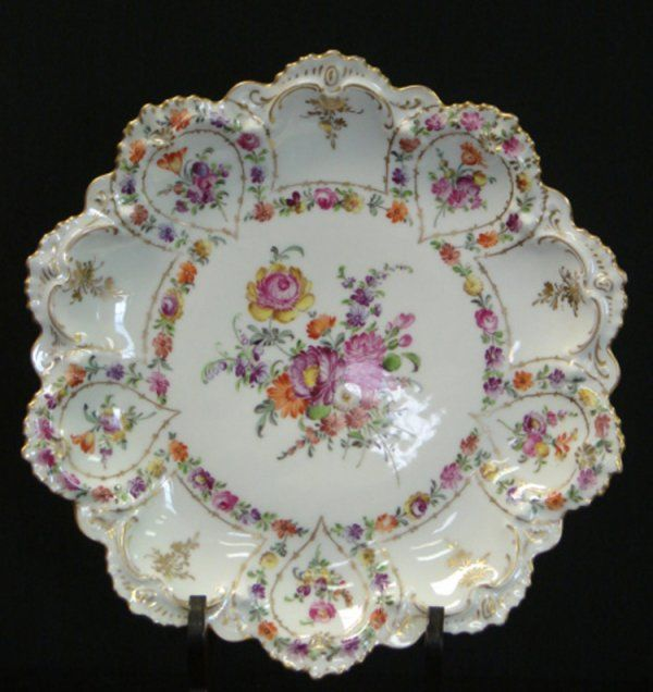 Dresden China Plate from which the Dresden BLOCK gets its name!~