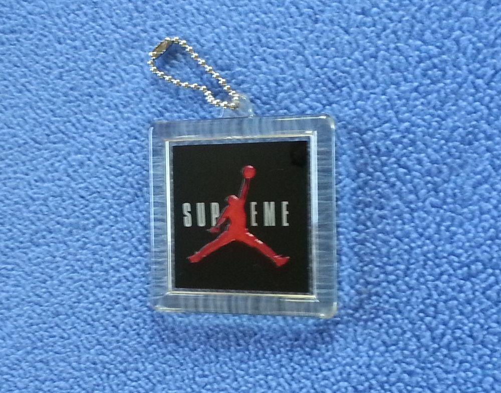 best service f1e36 ea12c AUTHENTIC NIKE AIR JORDAN SUPREME BLACK RED SHOE TAG HANG TAG KEY CHAIN   Jordan