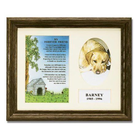 Personalized My Forever Friend Pet Memorial Frame, Brown | Pet ...