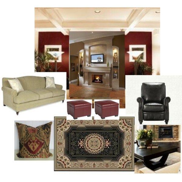 Red Black Tan Living Room