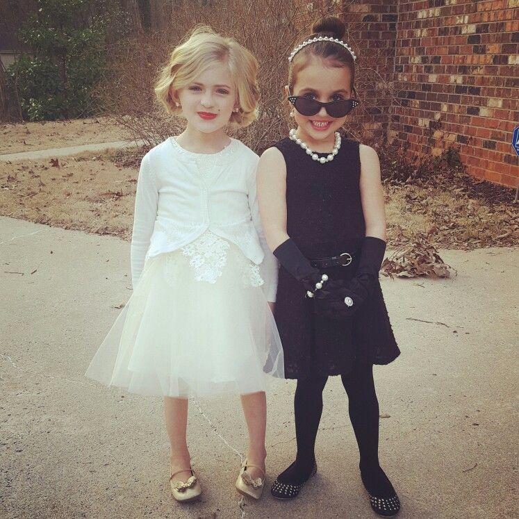 Marilyn monroe and Audrey Hepburn kids costume dress up  sc 1 st  Pinterest & Marilyn monroe and Audrey Hepburn kids costume dress up | My Style ...