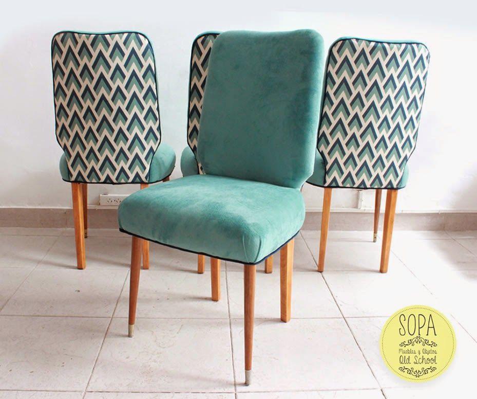 Sillas americanas olivia home pinterest sillas comedores y tapizado - Sillas provenzal tapizadas ...