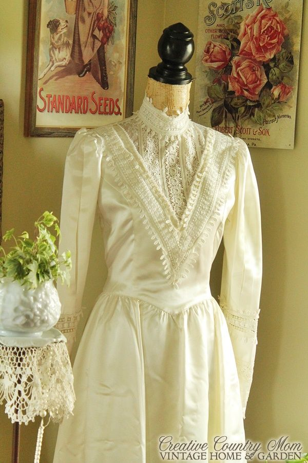 creative country mom s i bought a vintage wedding dress and it s a rh pinterest com