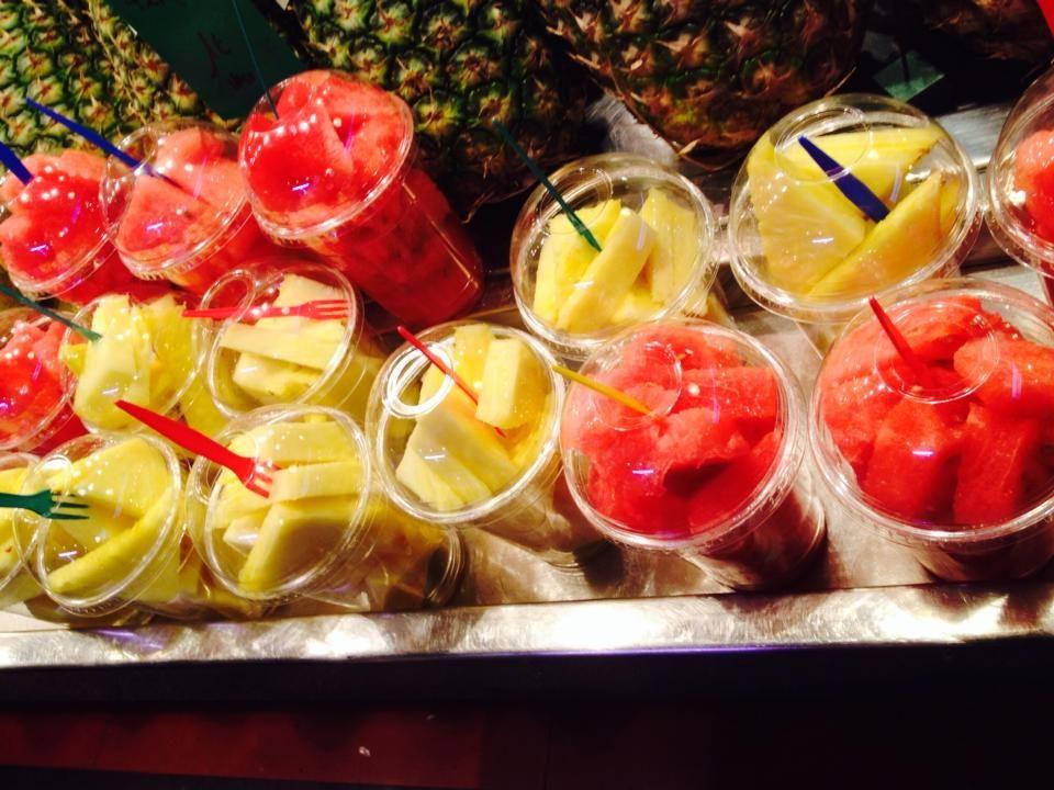 fresh fruits and products in la bocaria de barcelona spain barelona