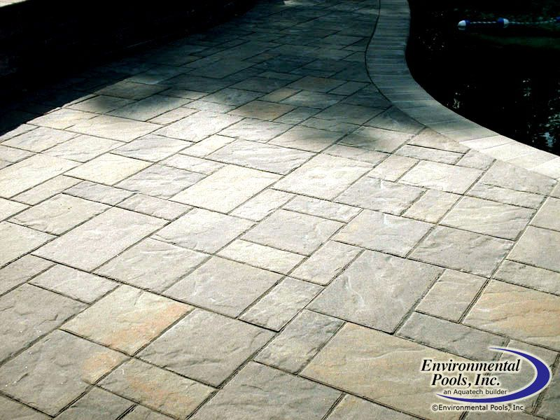 paver deck with bullnose coping decking coping and tiling