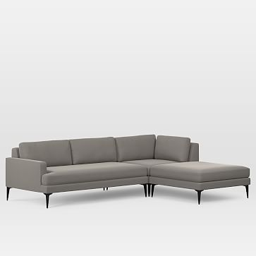 Andes 3 Piece Chaise Sectional In 2020 3 Piece Sectional