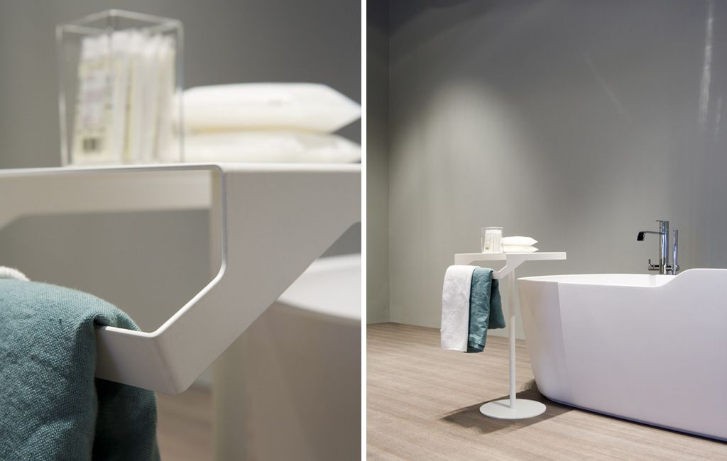 QGINI bathroom accessories in lacquered stainless steel