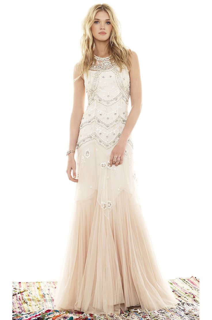 bc1a211e2118 Needle   Thread - Embellished Tulle Gown - Ivory