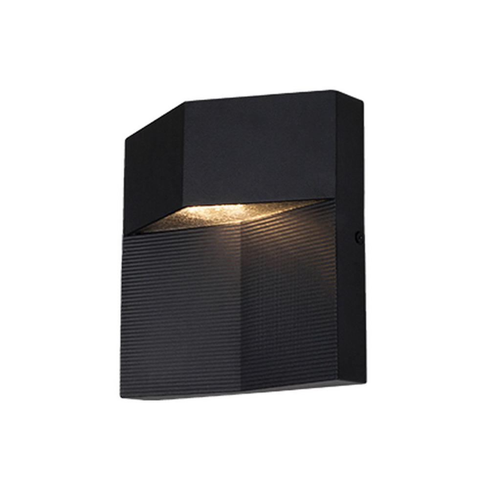 Yorkville Black Outdoor Integrated LED Wall Mount Sconce