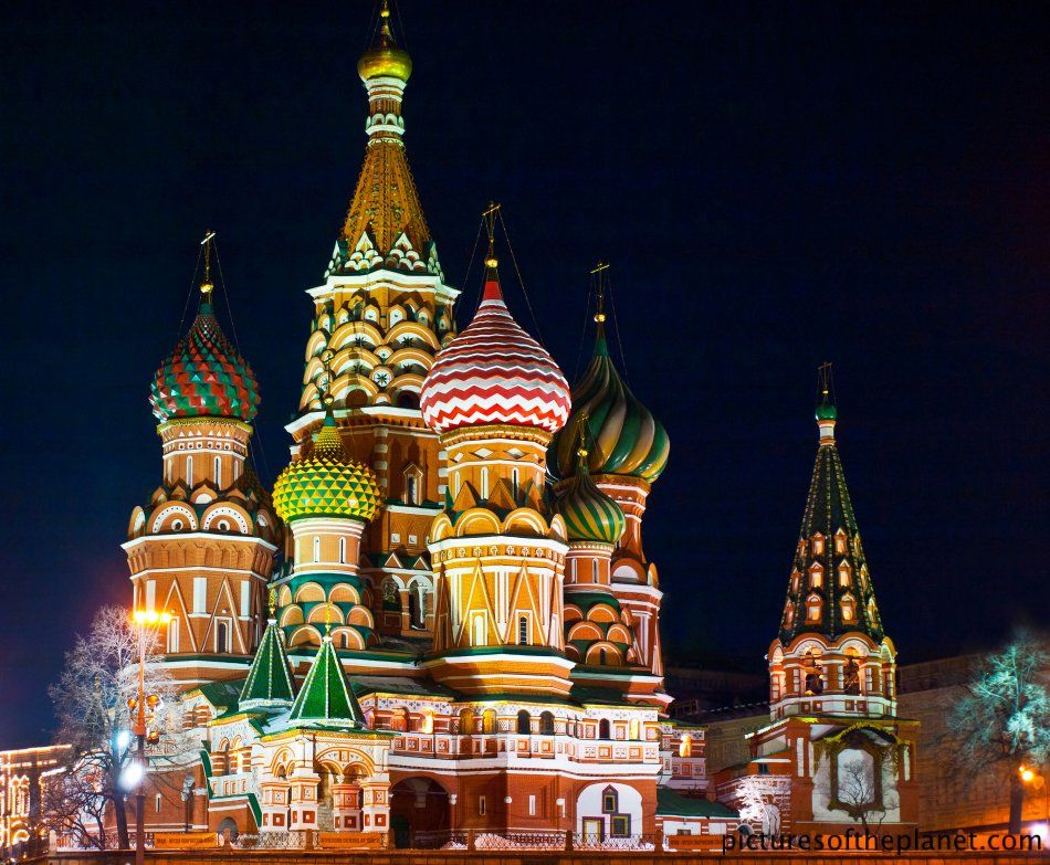 Saint Basil S Cathedral At Night Pictures Of The Planet St Basils Cathedral Landmarks St Basil S