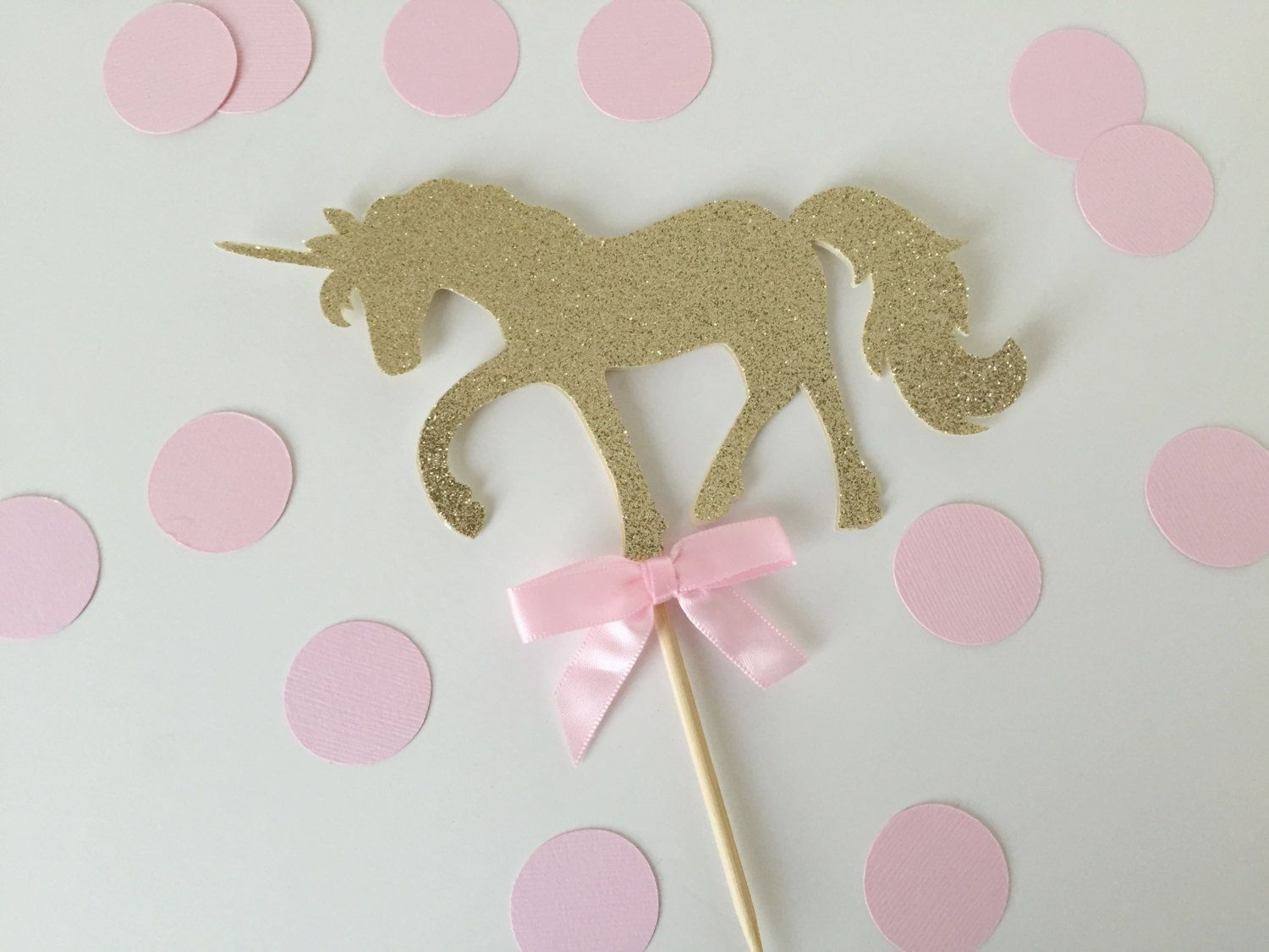 Gold Birthday Decorations Pink And Gold Unicorn Cake Topper Birthday Party Decorations
