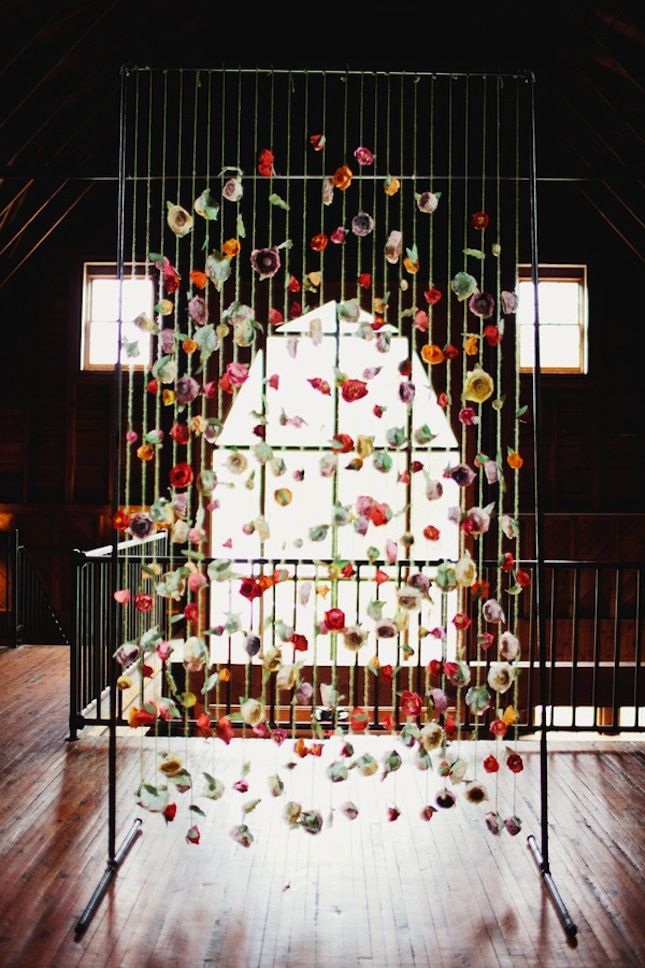 20 DIY Paper Wedding Backdrops Via Brit Co
