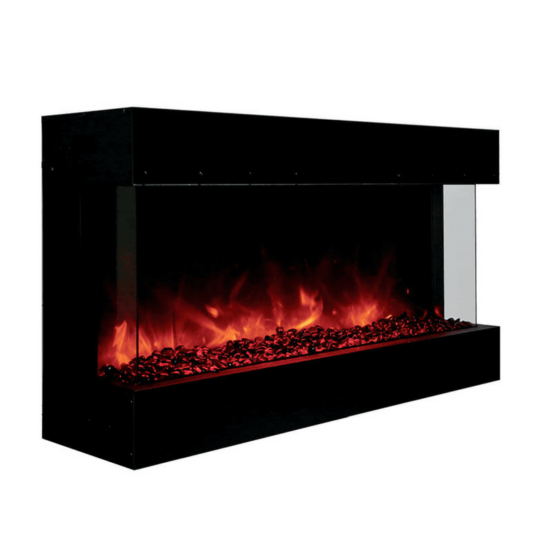amantii tru view 40 indoor outdoor 3 sided electric fireplace 40 rh pinterest com