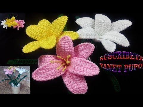 YouTube | Crochet flowers 9. | Pinterest | Häkelmützen