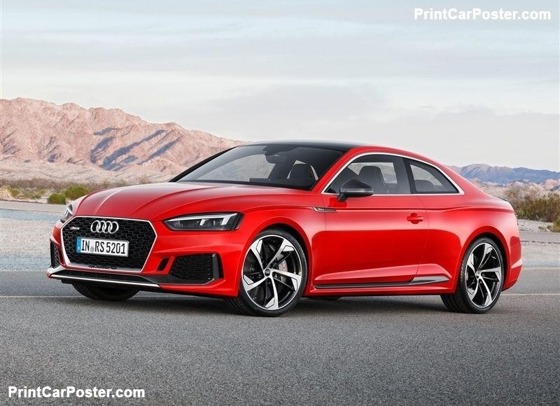 audi rs5 coupe 2018 poster audi rs5 and audi rs rh pinterest co uk