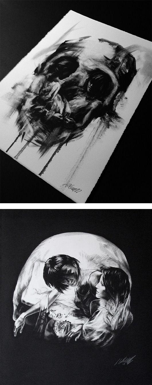 interpretation of death. Skull.