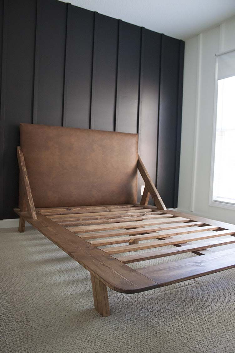 mid century modern diy platform bed furniture builds diy rh pinterest com