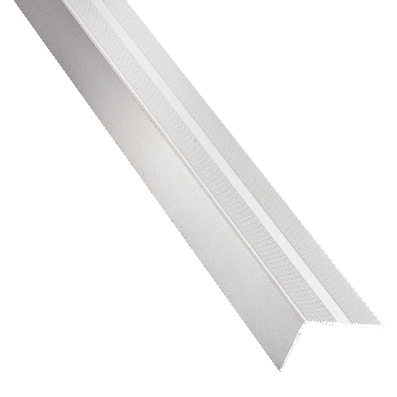 Nez De Marche Aluminium Mat Argent L 1 M X L 1 9 Cm X H 2 Cm Standers Nez De Marche Nez Mat