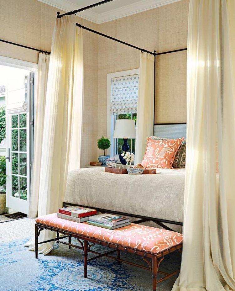 Bedrooms Pops of orange in the bedroom