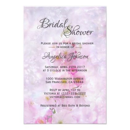 Purple Bridal Shower Invites