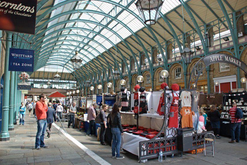 Inside Covent Garden Market, London UK