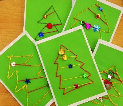 Sonniges klassenzimmer weihnachtskarten advent for Weihnachtskarten basteln kinder